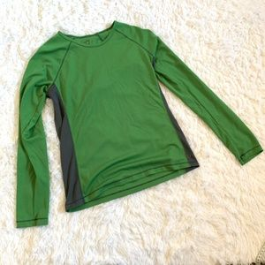 ALO Green Long Sleeve CoolR Athletic Shirt